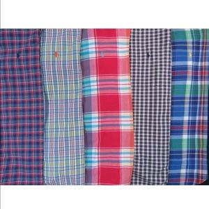 Lot Of 5 Ralph Lauren Polo S/S Button Front Shirts